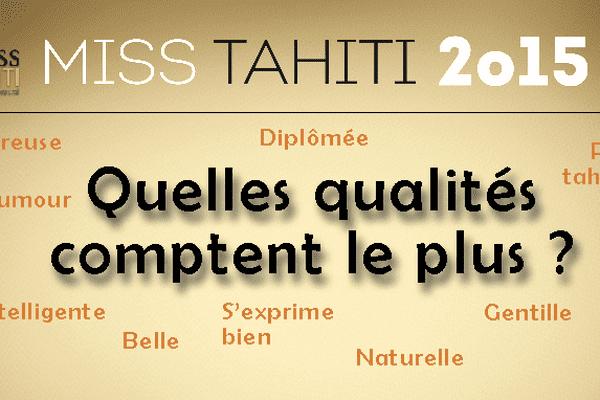 Miss Tahiti 2015 : quelles qualités comptent le plus ?