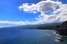 Baie de Saint-Paul, vue du Cap La-Houssaye, avec les nuages de pentes qui s'installent, chaque début d'après-midi