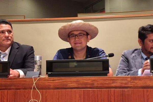Steve Chailloux à l'ONU