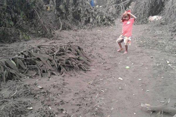 Les dégâts causés par les cendres volcaniques