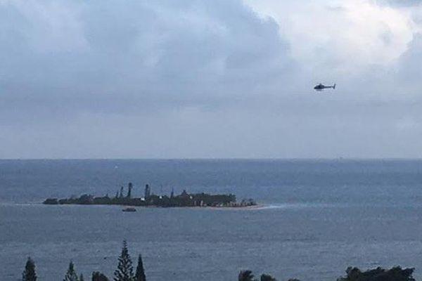 Hélicoptère recherches collision Ilôt Canard 080417