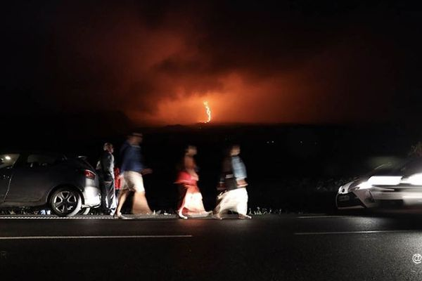 Eruption du Piton de la Fournaise, mardi 13 août 2019.