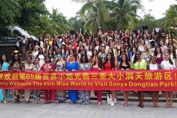 Les Miss au Sanya Dongtian Park