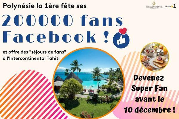 200 000 fans Facebook : tente de gagner un week end de rêve !