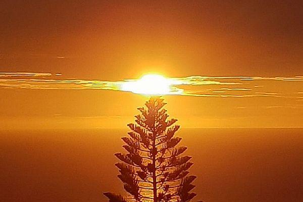 Coucher de soleil sur l'Ouest 17 février 2021