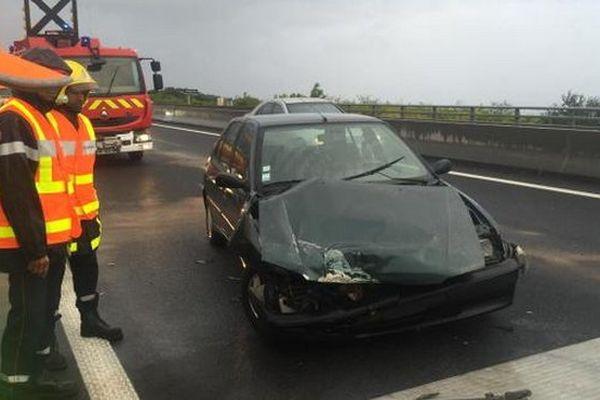 Accident sur la route des Tamarins