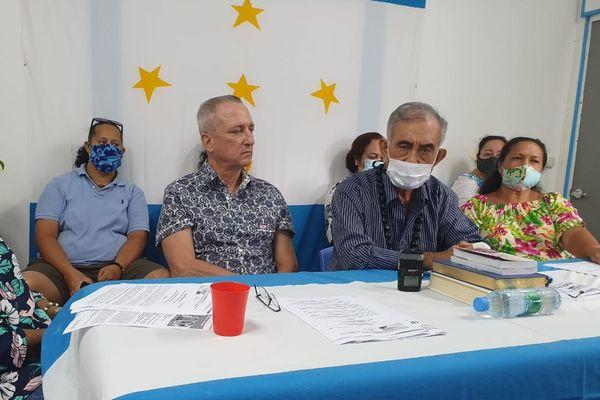 Oscar Temaru présente ses candidats aux élections sénatoriales