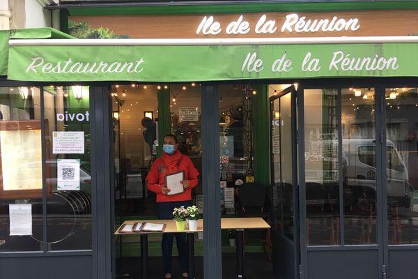 Christine jean-Baptiste, gérante du restaurant L'ile de la Réunion reconfinement