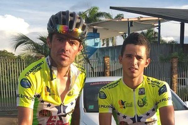 Eduin Becerra et Roniel Campos Lucena de la Pédale Pilotine