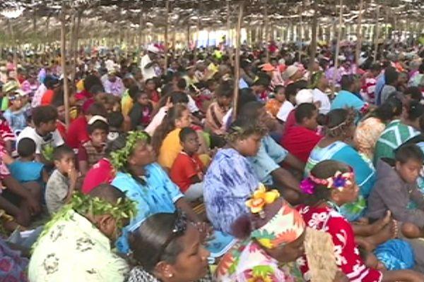 Capture convention protestante kovasio de Lifou à Thuahaik, fin mars / début avril 2018
