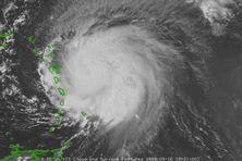Le cyclone Hugo a l'assaut de la Guadeloupe, le 16 septembre 1989.