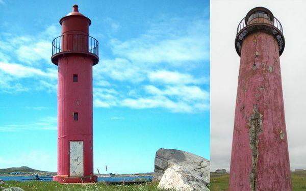 Le phare de l'île aux Marins à Saint-Pierre et Miquelon