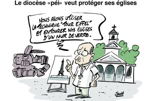 Souch 09022017 : protection église