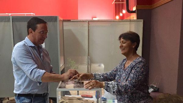 Provinciales 2019, Philippe Gomès vote à La Foa.