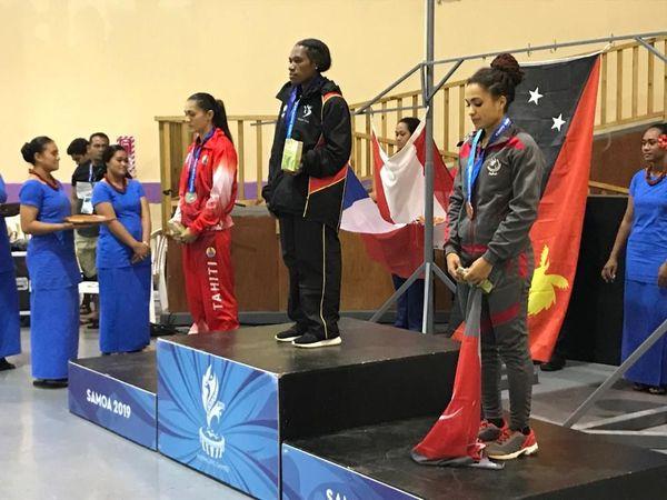 Samoa 2019, bronze de Shannon Maboumda, force athlétique