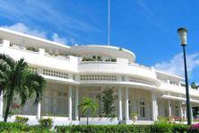 Le Palais d'Orléans, à Basse-Terre.