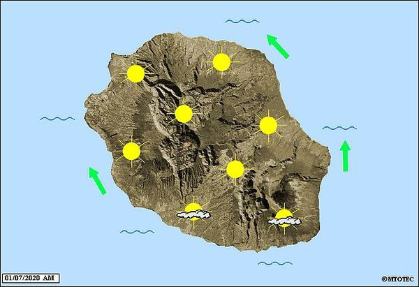 Carte météo 1 juillet 2020