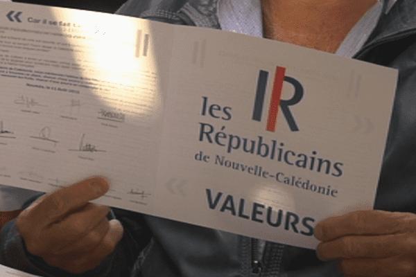 Réunion annonçant la formation d'une Fédération élargie des Républicains de Calédonie