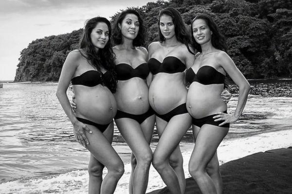 Shooting photos des 4 Miss Tahiti enceintes