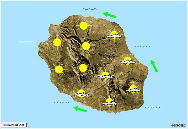 Carte météo 18 juin 2020
