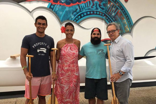 Heureux gagnant Jeu Hawaiki Nui Va'a 2017