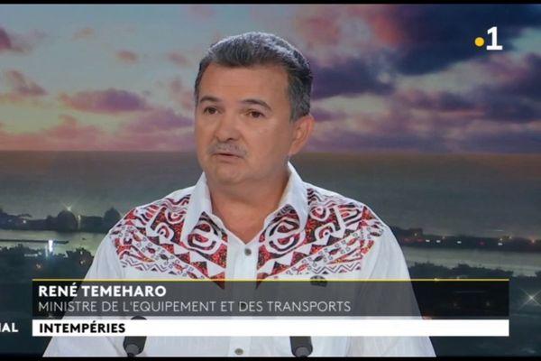 Invité du VEA et du JT, René Temeharo, Ministre de l'Equipement et des Transports