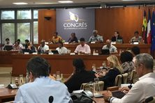 Le Congrès de la Nouvelle-Calédonie réuni dans l'hémicycle de la province Sud (archives février 2021)