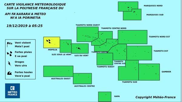 Carte de vigilance Métée France