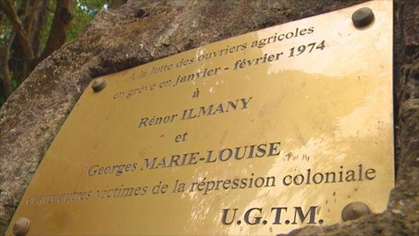 Plaque commémorative Chalvet Février 1974