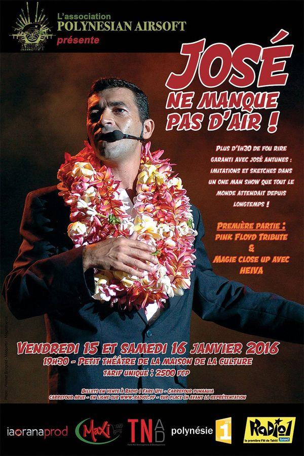 """""""José ne manque pas d'air"""", le nouveau spectacle de José Antunes vendredi 15 et samedi 16 janvier 2016 à la Maison de la Culture"""