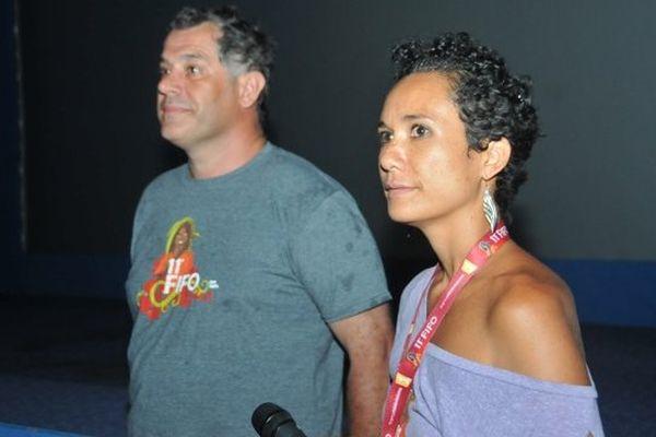 Luc Jacquet, Président du Jury du FIFO 2014 et Miriama Bonno, coordinatrice du FIFO