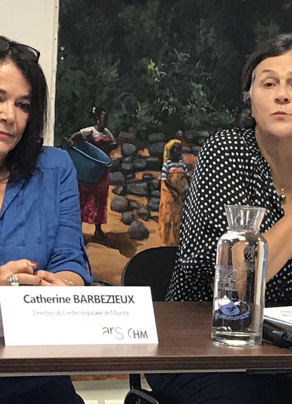 Catherine Barbezieux et Dominique Voynet