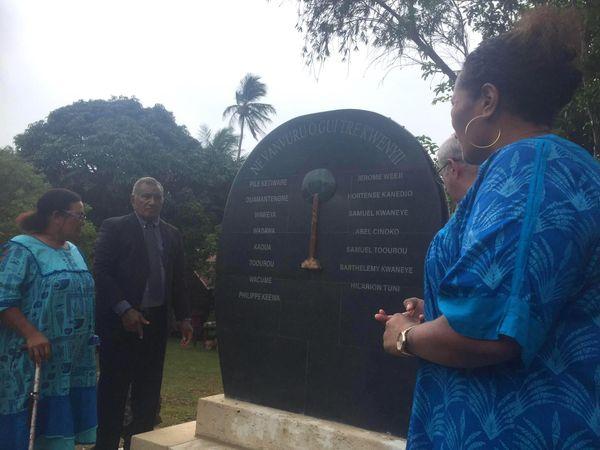 Stèle des grands chefs de l'île des Pins, 11 janvier 2021