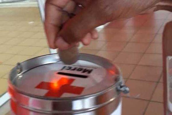 Collecte de dons Croix Rouge