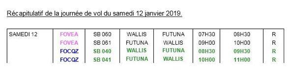 Reprise vols inter îles janvier 2018