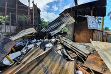 C'est tout ce qu'il reste de l'école ABK après l'incendie de la nuit de dimanche à lundi dernier.