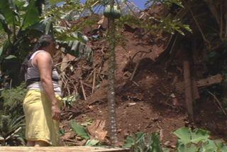 Faa'a : le glissement de terrain contraint une famille à partir