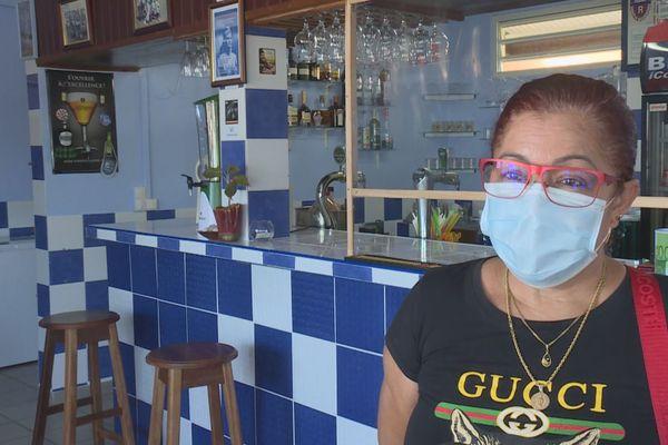 Joceline Tony propriétaire du restaurant l'Aigrette Bleue