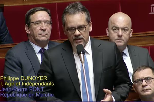 Philippe Dunoyer à l'Assemblée Nationale