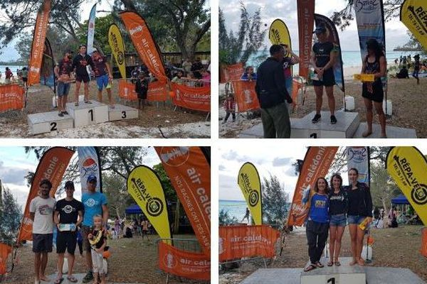 Triathlon Loyauté podiums