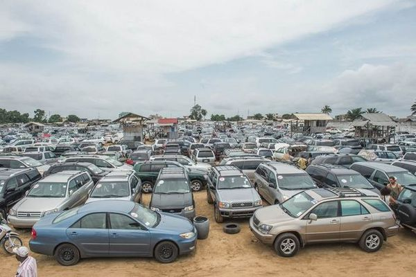 Voitures d'occasion exportées en Afrique