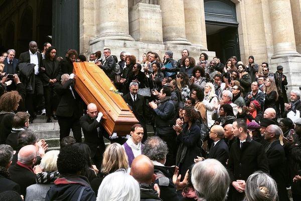 Cercueil de Jean-Michel Martial à l'église Saint-Roch, Paris