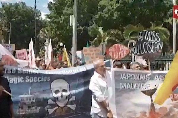 manisfestation contre les accords de pêche