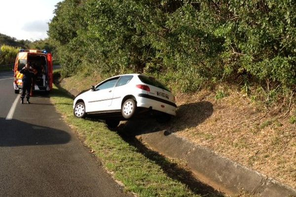 Accident Franche Terre Sainte-Marie (perte de contrôle)
