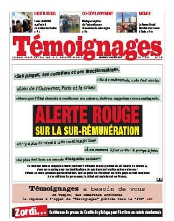 Témoignages, la Réunion, du 29 mars 2013