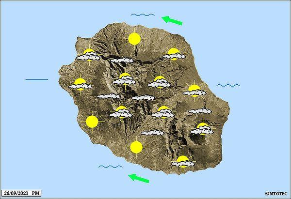 Carte météo 27 septembre 2021