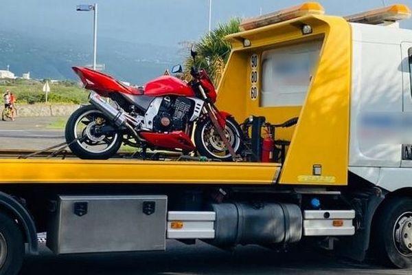 Saisie de la moto flashée à 153 km/h