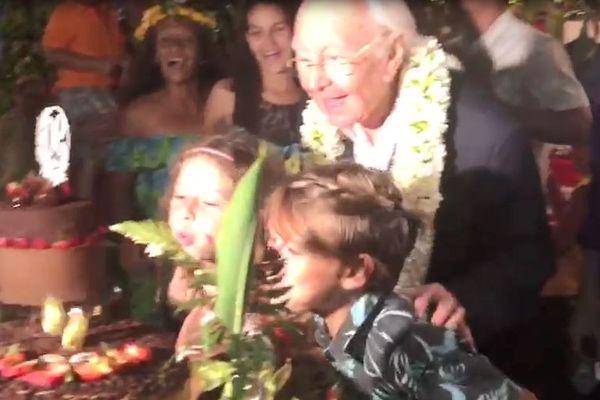 90 ans de Gaston Flosse : une grande fête de famille