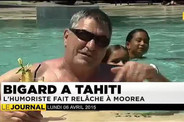 Jean-Marie Bigard est en Polynésie