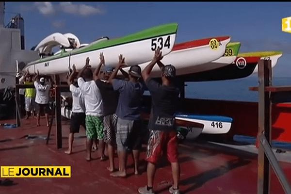 Embarquement des pirogues pour la Hawaiki nui